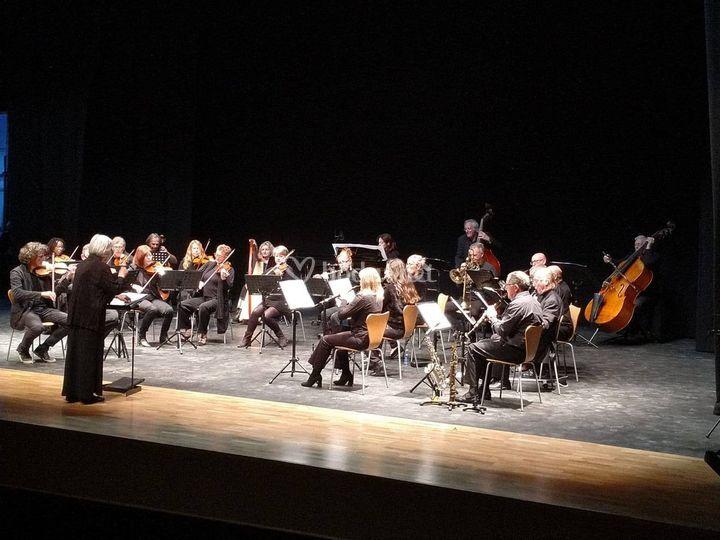 Con la orquesta de Cariatiz
