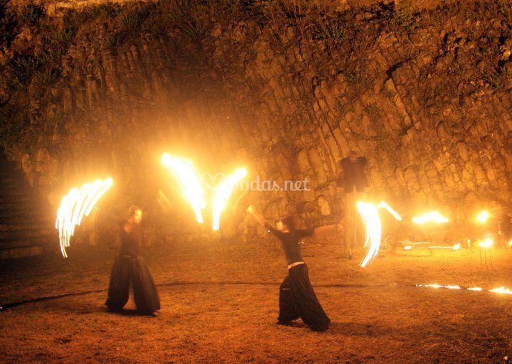 Abanicos de fuego