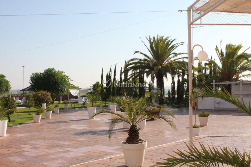 Hotel trh alcora for Piscina tomares