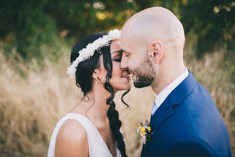 Beso corona de flores
