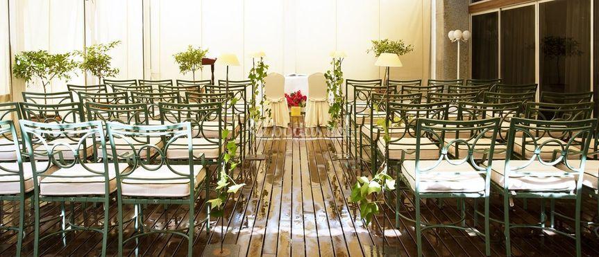 Terraza para ceremonia civil