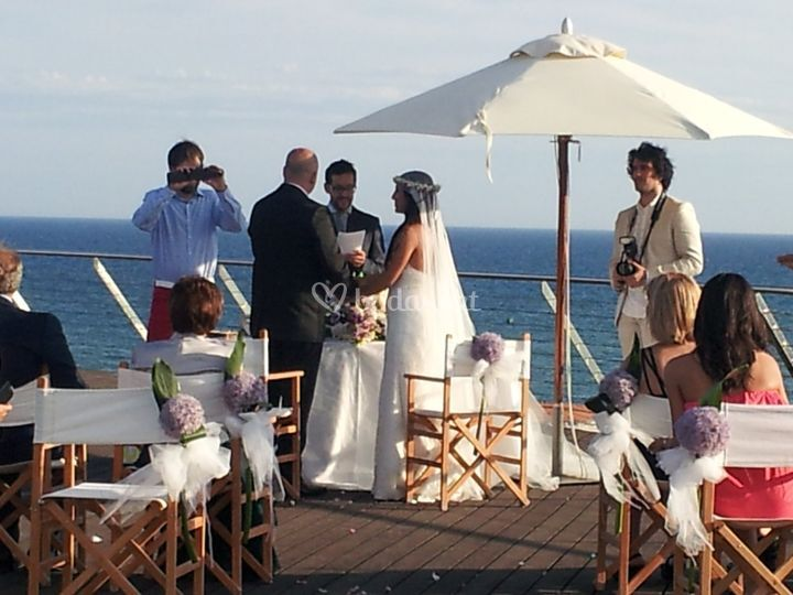 Ceremonia al aire libre
