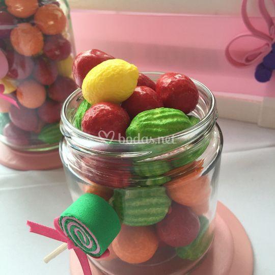 Mesas dulces con mucho color