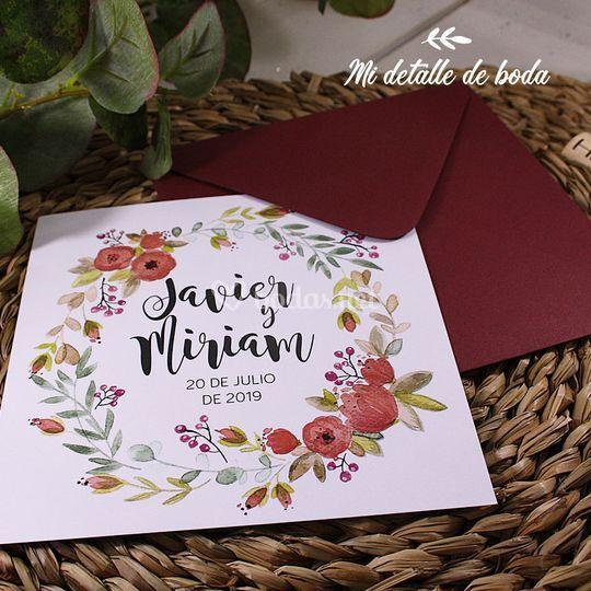 Invitación Boho Floral