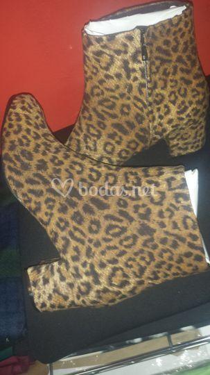Botines forrados en leopardo