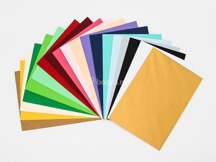 Carta color sobres