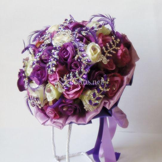 Ramo de novia lila