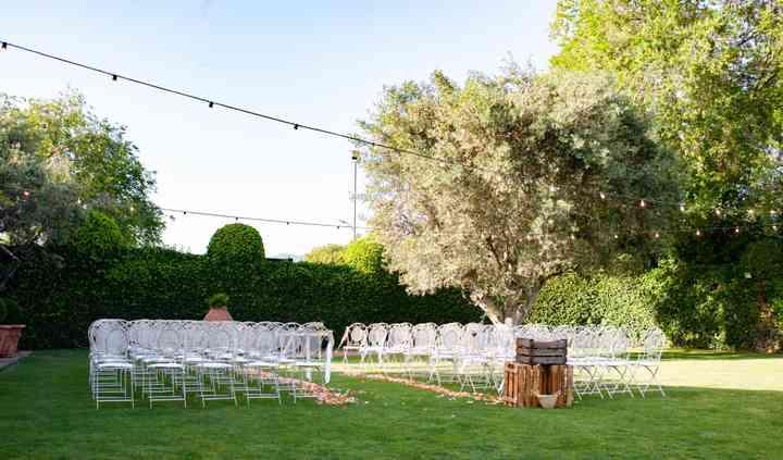 Ceremonia con silla de forja