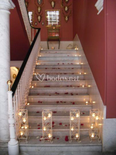 Escalera para la boda