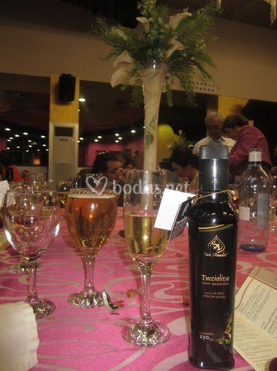 Botella tuccioliva boda