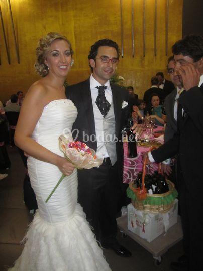 José y Pilar con cesta