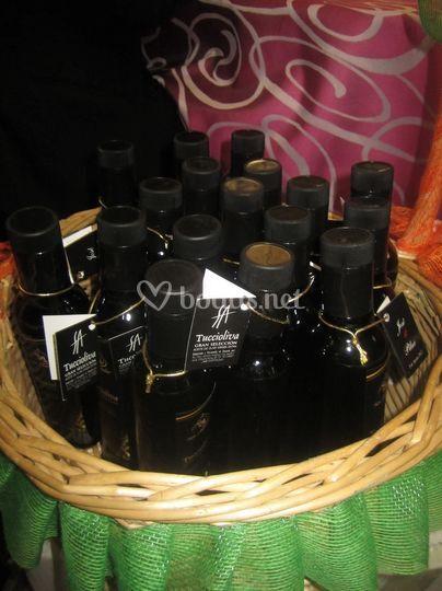 Botellitas aceite oliva - boda