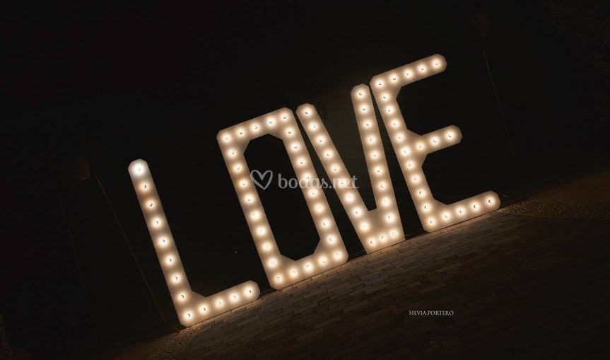 Iluminación letras