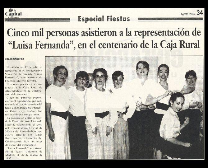 Prensa. Zarzuela .