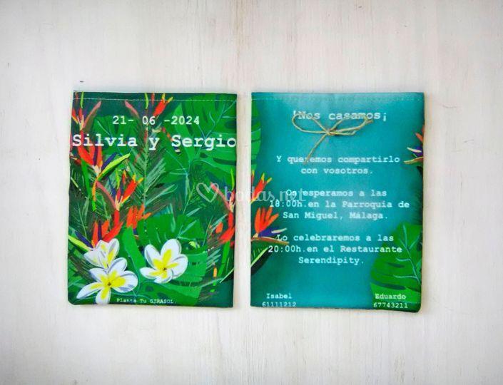 Invitación colección tropical
