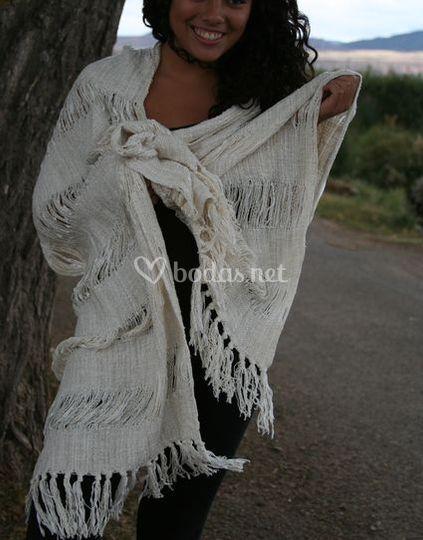 Chal algodón tejido telar