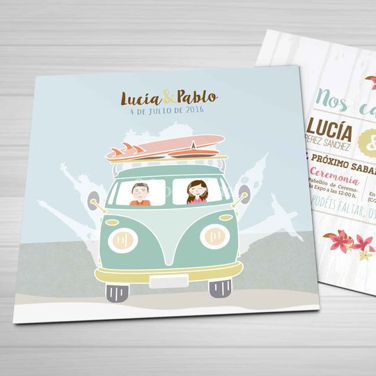Invitación travel van