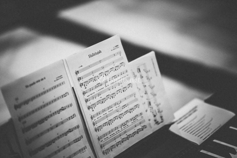 Detalle halleluyah/piano