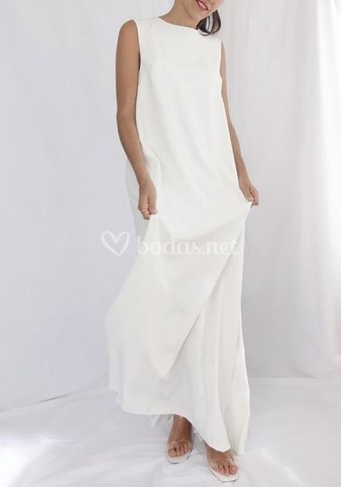 Vestido de novia crepe