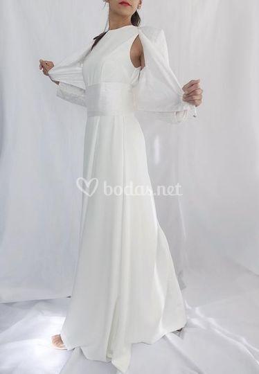 Vestido de novia crepe torera