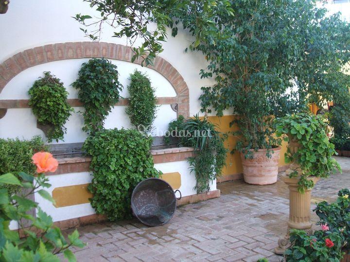 Fuente en el patio andaluz