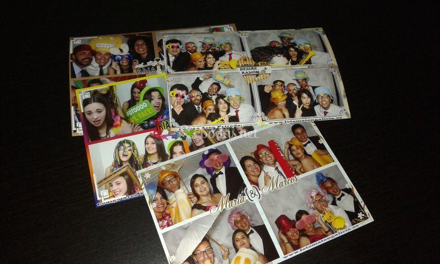 Impresión 10x15 con 4 fotos