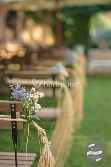 Detalle sillas ceremonia