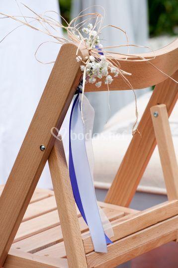 Detalle de una silla rústica
