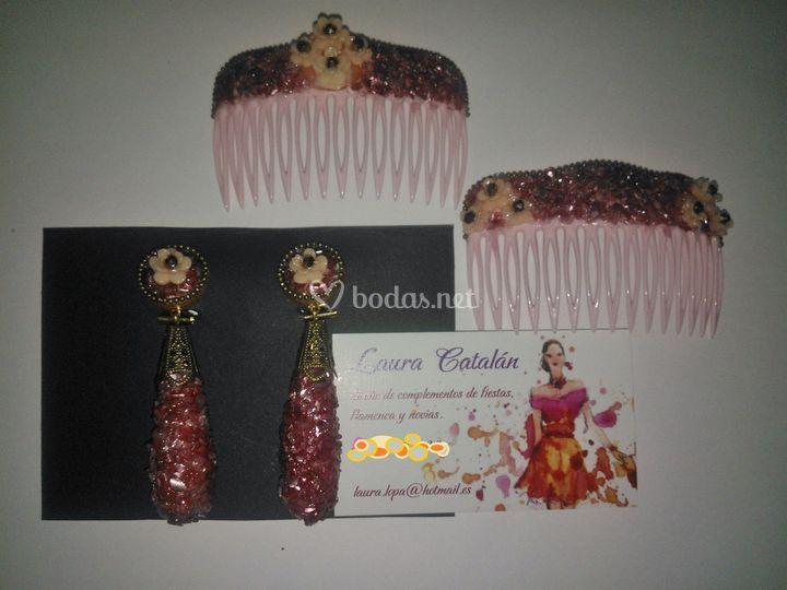 Gotas color vino y rosa pastel