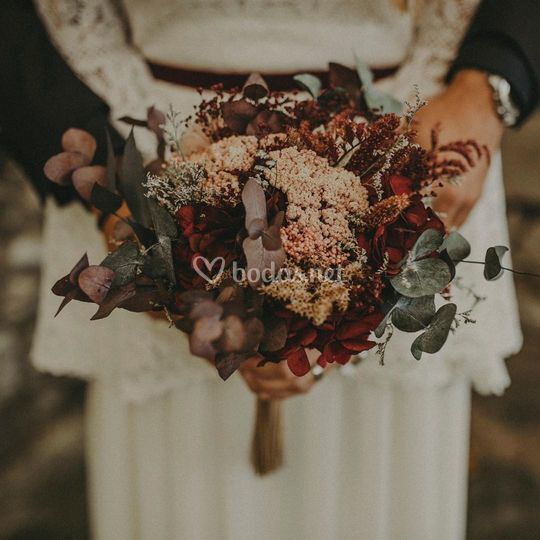 Corona de flores tocados ramo