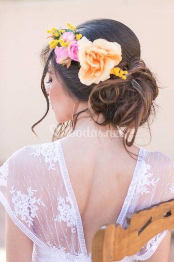 Coronas de flores y tocados