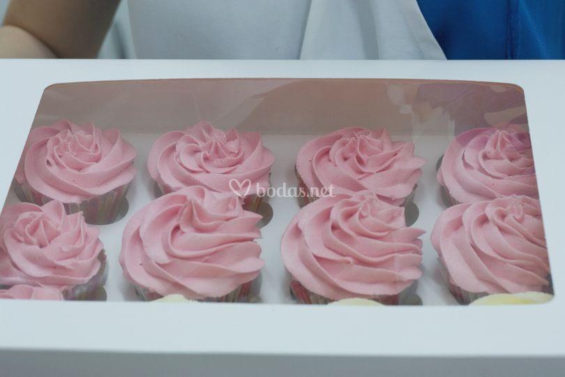 Cupcakes rositas
