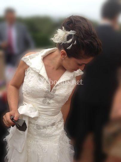 Recogido y maquillaje de novia