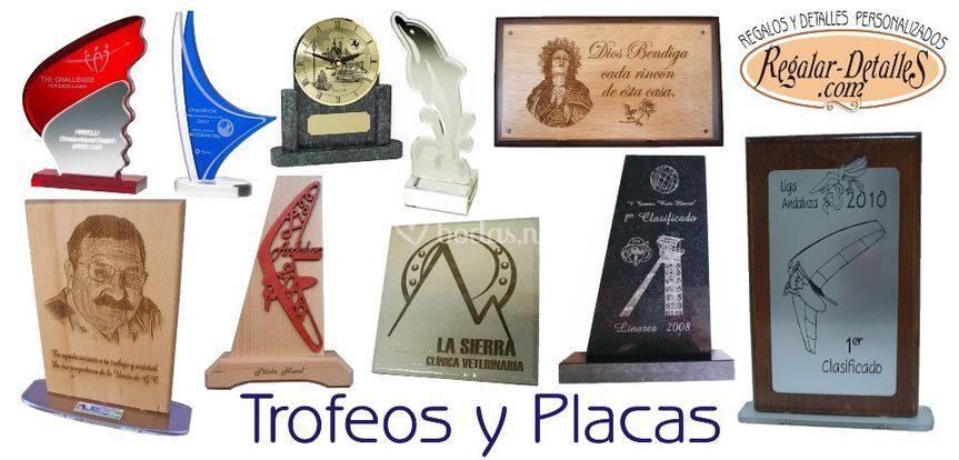 Trofeos y Placas de Regalo