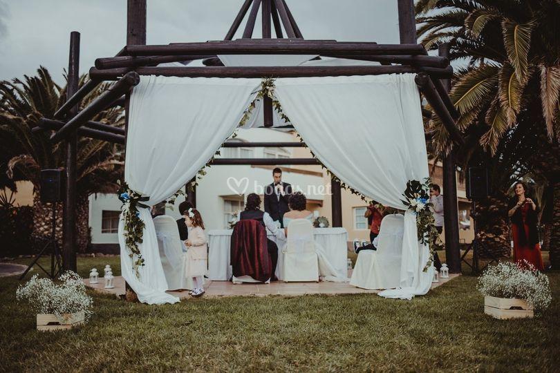 Ceremonia en la pérgola