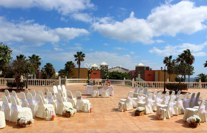 Ceremonia terraza