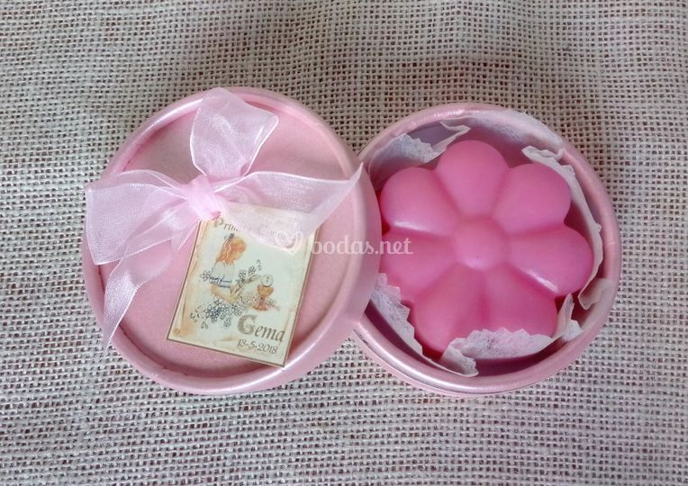 Cajita con jabón flor