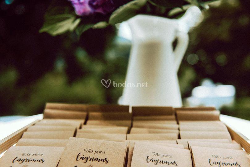 Pañuelos, lágrimas de felicidad