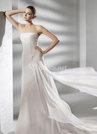 Vestido palabra de honor La Sposa