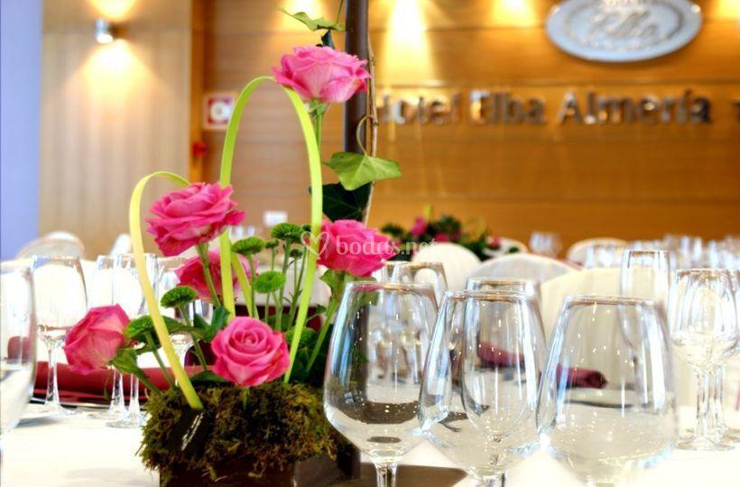 Detalle floral de boda