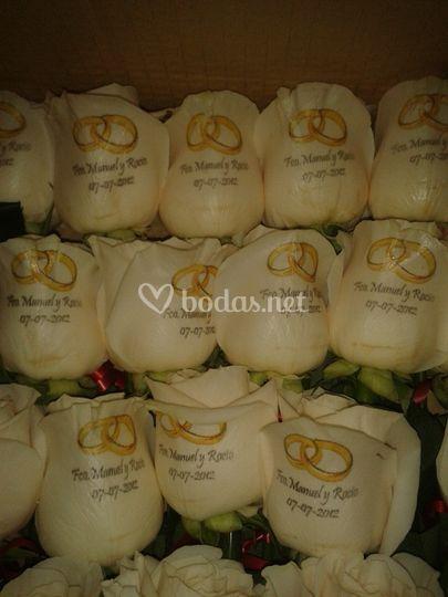 Personalización de flores