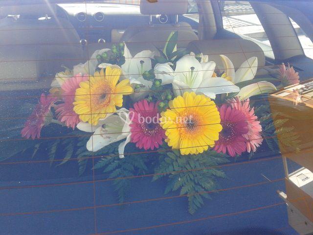 Flores del coche