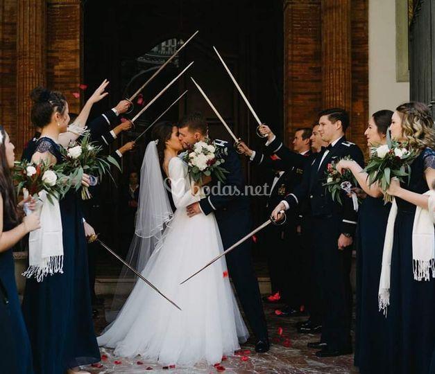 Ramo de novia y damas