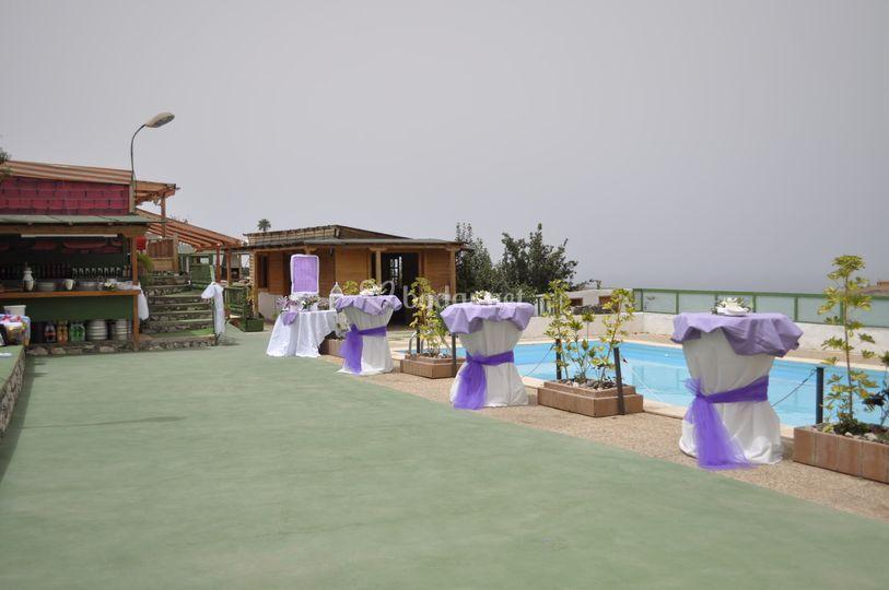 Zona de piscina de Finca La abuela Isabel