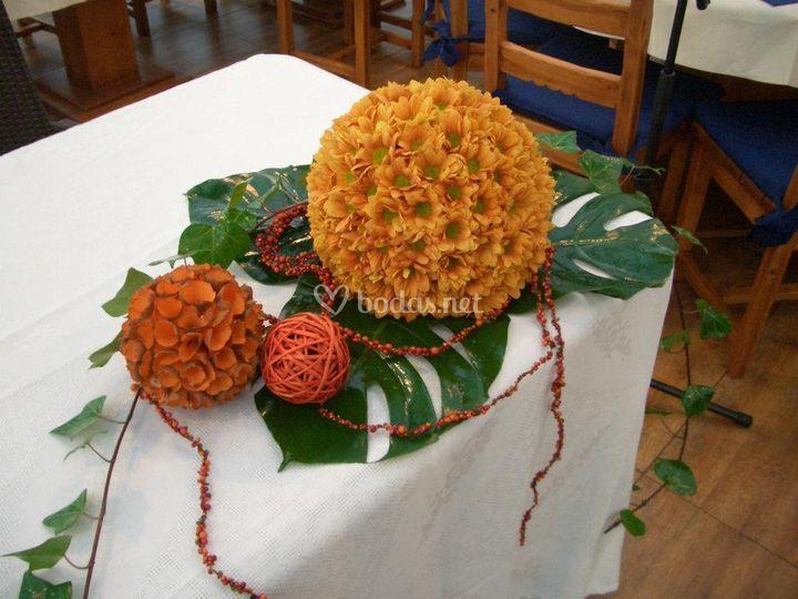 Centro de bodas de otoño