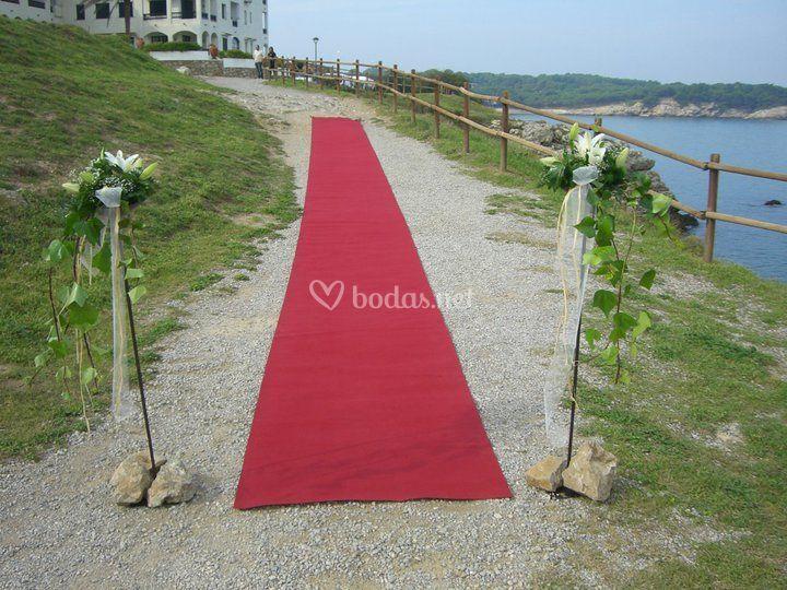 Entrada para la novia