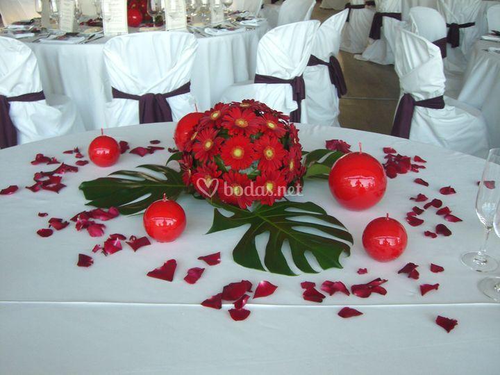 Centre mesa de boda