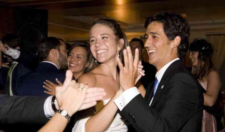 Alegría en la boda