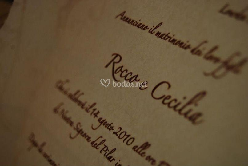 Tipografía en italiano