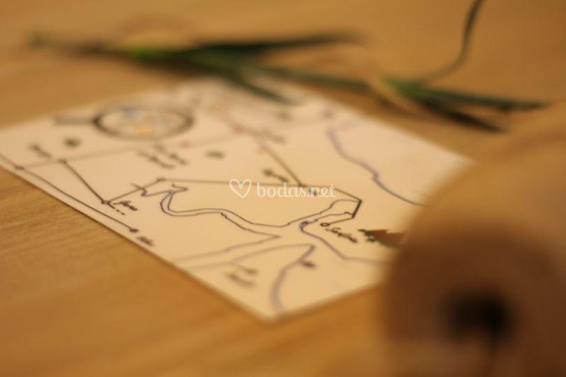 Mapa boda invitación
